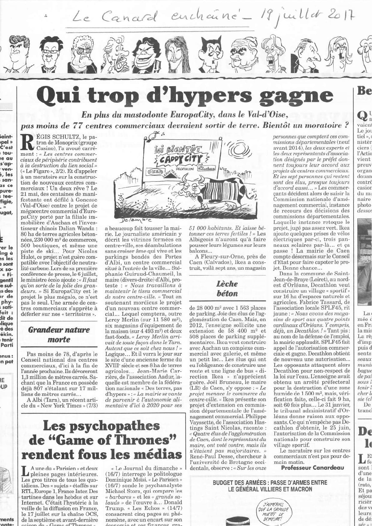 article Canard Enchainé
