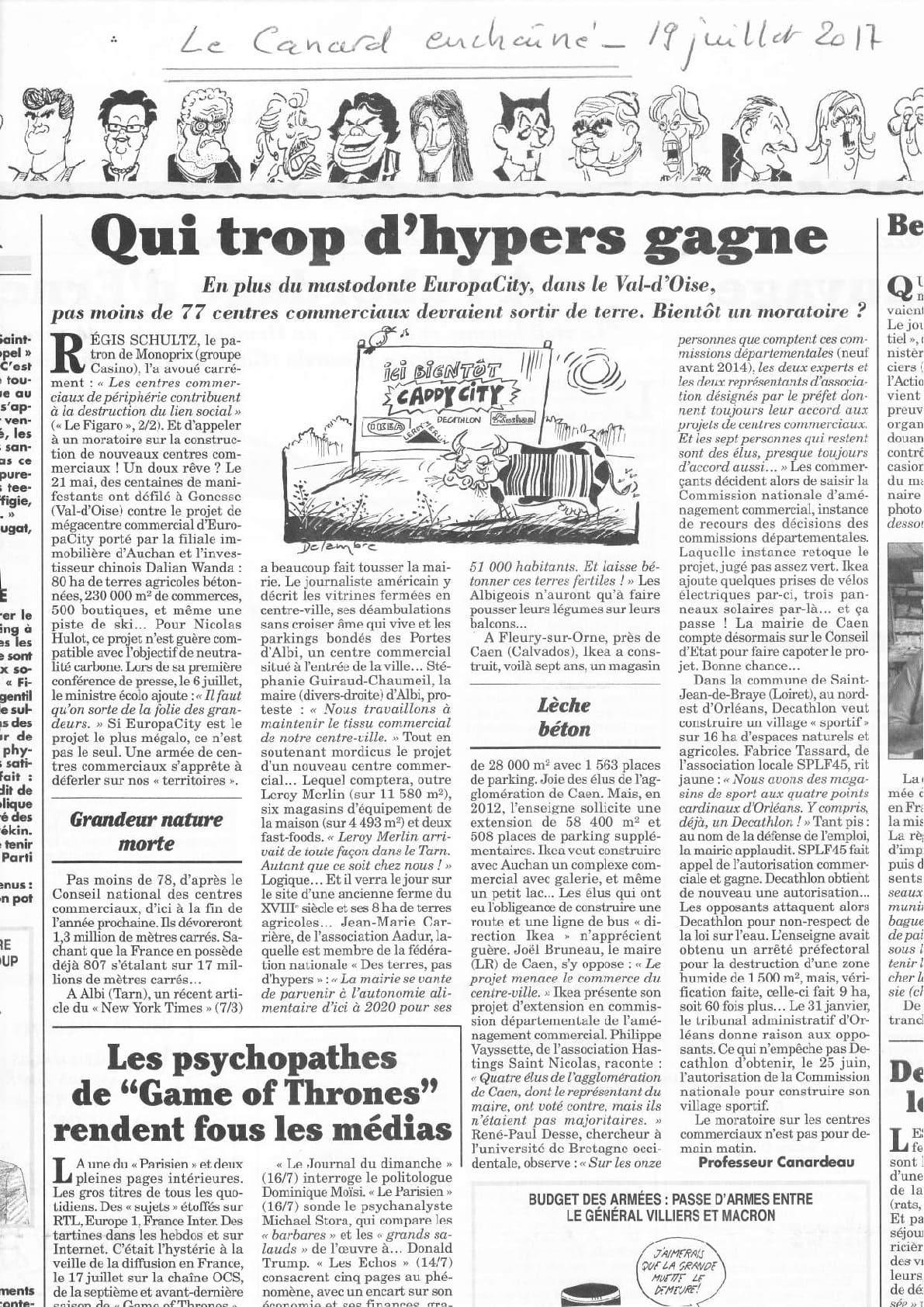 article Canard Enchainé