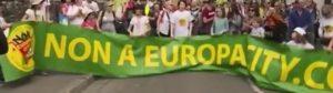 manifestation à Gonesse contre EuropaCity